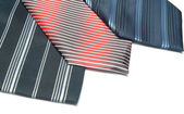 Three ties — Stock Photo