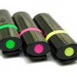 Three color markers — Stock Photo #25183633