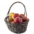 Apples in basket - Stock Photo