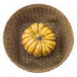 Pumpkin in basket — Stock Photo