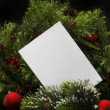 Weihnachten background.blank Blatt Papier mit Dekoration — Stockfoto #14914299