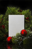 Hoja de papel background.blank de navidad con decoración — Foto de Stock