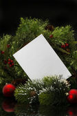 Weihnachten background.blank blatt papier mit dekoration — Stockfoto