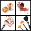Makeup set isolated on white background — Stock Photo #18298937
