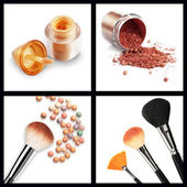 Makeup set isolated on white background — Stock Photo