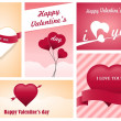 Heart Valentines day card — Stock Vector