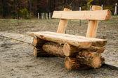 Banco de madeira — Fotografia Stock