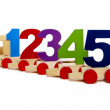 Toy train with numbers - Stock Photo