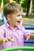 Close up portrait of cute little boy — Stock Photo