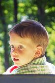 Cheerful little boy. Close-up portrait — Stock Photo