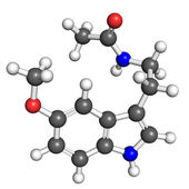Melatonin molecule — Stock Photo