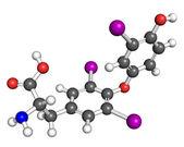 Triiodothyronine molecule — Stock Photo
