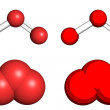 Stock Photo: Ozone molecule