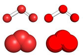 Ozone molecule — Stock Photo