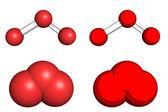 臭氧分子 — 图库照片