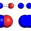 Stock Photo: Nitrous oxide molecules