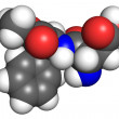 Stock Photo: Aspartame molecule