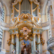 Famous church Dresden altar — Stock Photo