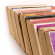Row of Old Paperback Book — Stock Photo