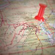 Pin on a Map — Stock Photo