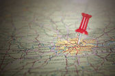 Red Pin on London Map — Stock Photo