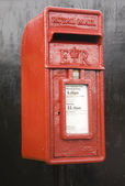 Red Post Box UK — Foto de Stock