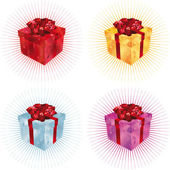Caja de regalo — Vector de stock