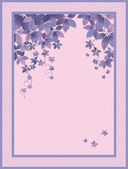 Lilac Background with leaves — Vettoriale Stock