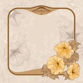 Ancient background with vintage frame — Stock Vector