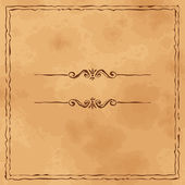 Grunge old paper background with hand drawn frame — Vettoriale Stock