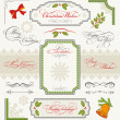 Stock Vector: Christmas collection of calligraphic design elements