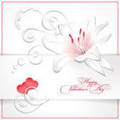 Floral Valentine — Stock Vector