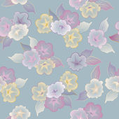 Vector floral seamless pattern beautiful flowers — Cтоковый вектор