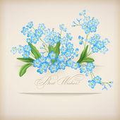Modrá jarní květiny pomněnka přání — Stock vektor