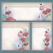 Vintage flower banners in different layout set — Stock Vector