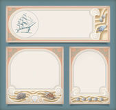 Set of sea vintage vacation frame banners, labels — Vettoriale Stock