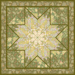 Quilting pattern background design with star motive — ベクター素材ストック