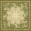 Quilting pattern background design with star motive — Image vectorielle