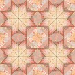 Quilt seamless pattern background star design — Stockvektor