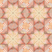 Quilt seamless pattern background star design — Cтоковый вектор