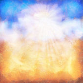 Abstract summer day sky oil painting background — Stock Photo