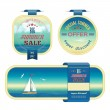 Set of summer sale labels, tags, stickers, banners — Stockvektor