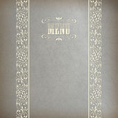 Vintage Abstract Retro Lace Banner Background — Stock Vector