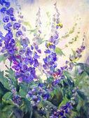 Flowers Oil Digital Painting — Stock Photo