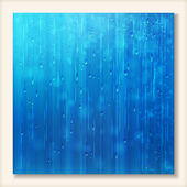 Blue shiny rain Abstract water background design — Vettoriale Stock