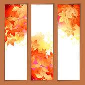 Autumn Vector Watercolor Headers — Stockvector