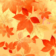 Seamless Autumn Leaf Fall Pattern — Stock Vector #51400569