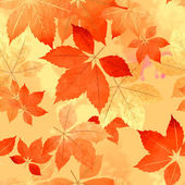 Seamless Autumn Leaf Fall Pattern — Vettoriale Stock