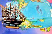 探索世界的船 — 图库照片