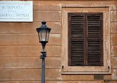 Old window at Rome city — Stock Photo